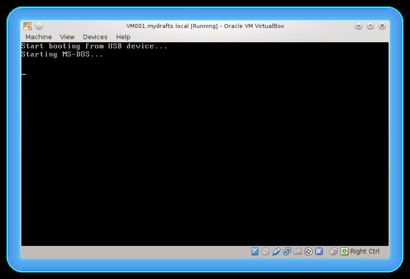 """2 - что бы загрузиться с """"флешки"""" MS DOS 6.22"""" в Linux MS DOS 6.22"""